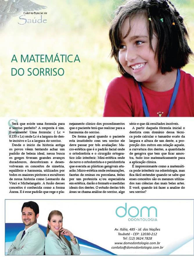Artigo - A matemática do sorriso